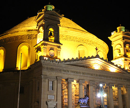 Night tour through Valletta, Mosta and Mdina