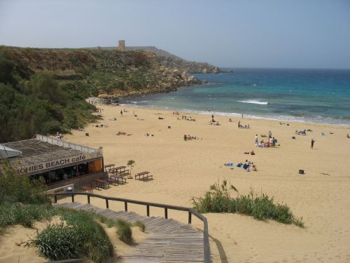 Beach day in Malta